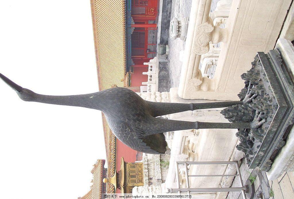 仙鹤 北京 故宫博物院 人文景观 风景名胜 古建筑 皇宫 大殿