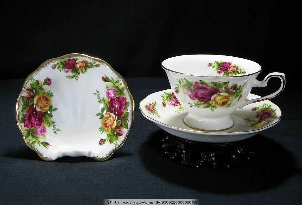 瓷器花纹 骨瓷咖啡杯图片