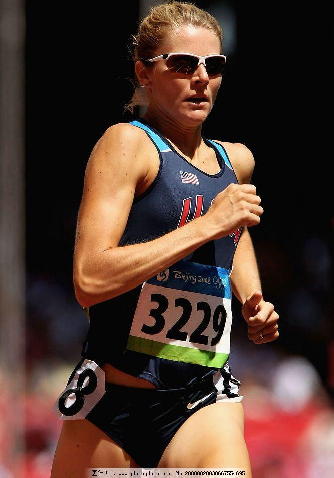 08奥运会田径女运动员 跑步 运动员 锻炼 长跑 比赛 文化艺术 体育图片