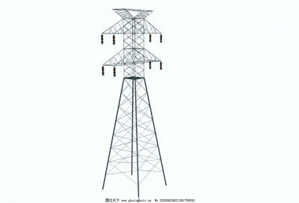 高压线 电线杆 源文件库图片