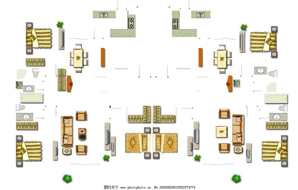家具户型素材 平面家具 psd分层素材 建筑平面图psd素材 源文件库 100