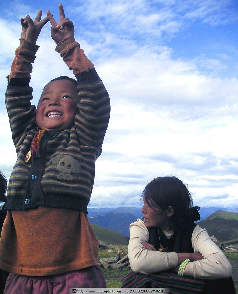藏族母子 藏族 母亲 孩子 旅游摄影 国内旅游 川西风景照 摄影图库 72