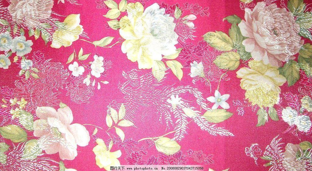 旗袍布花纹图片