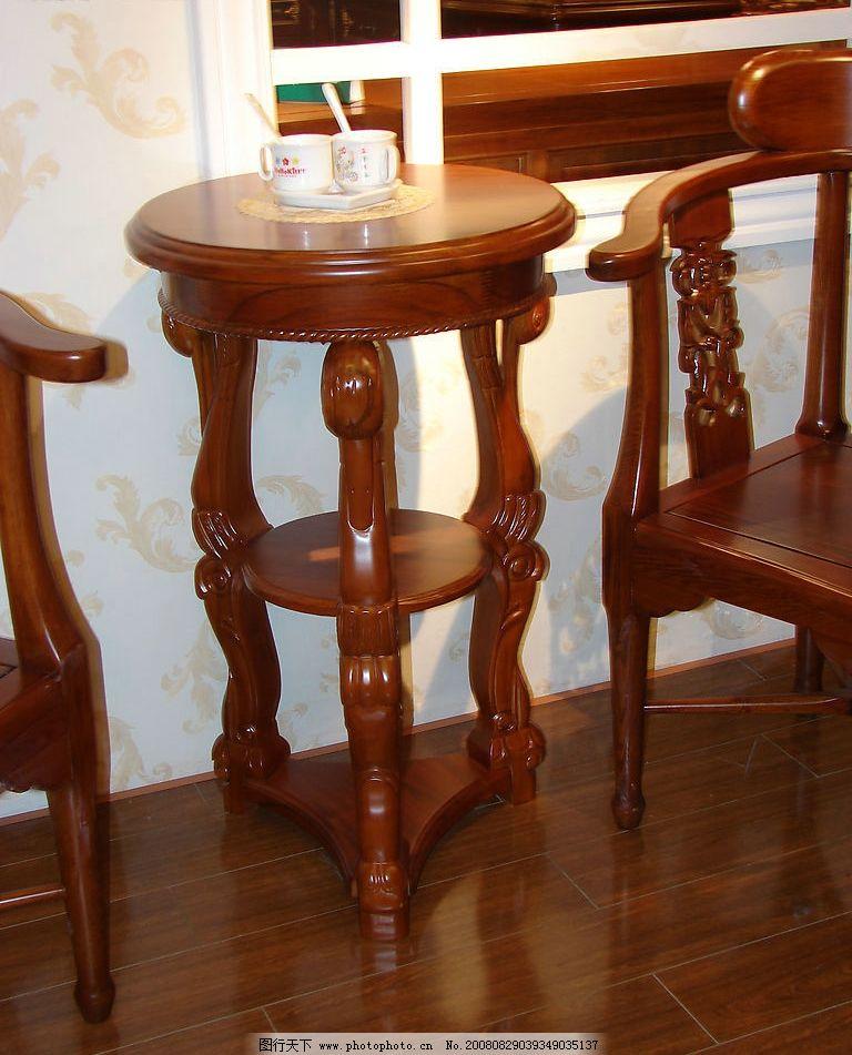 茶几 圆几 茶杯 家具 欧式家具 古典家具 经典家具 建筑园林 室内摄影