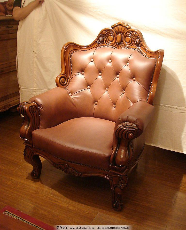 经典欧式家具单人沙发图片