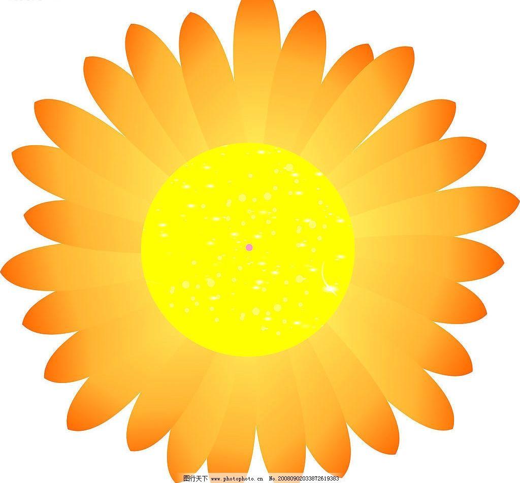 卡通太阳花 太阳花 矢量图 cdr 其他矢量 矢量素材 矢量图库