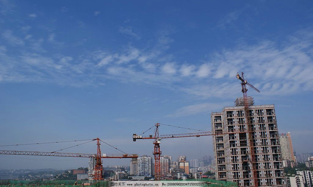 城市 风景 蓝天 高楼图片