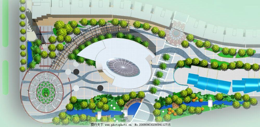 翠微广场平面图 园林景观 树 广场 环境设计 建筑设计 建筑图片