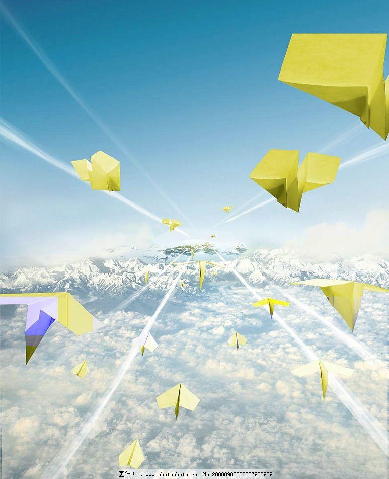 地产飞机稿 纸飞机 飞行 房地产背景 地产素材 追求 psd分层素材 源