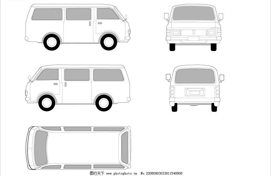 矢量业务面包车图片