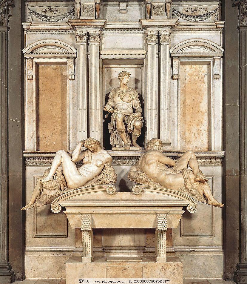 米开朗基罗 雕塑 意大利 文艺复兴 建筑园林 欧洲古典雕塑 摄影图库