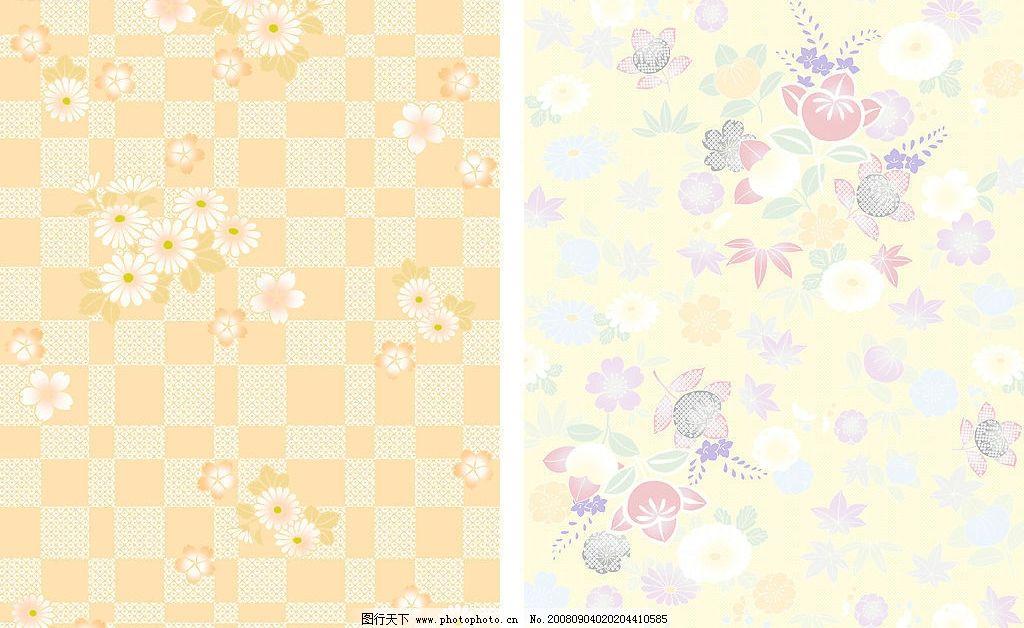 日本风格碎花背景底纹组合图片