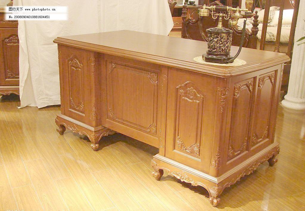 经典欧式家具办公桌(书桌)图片