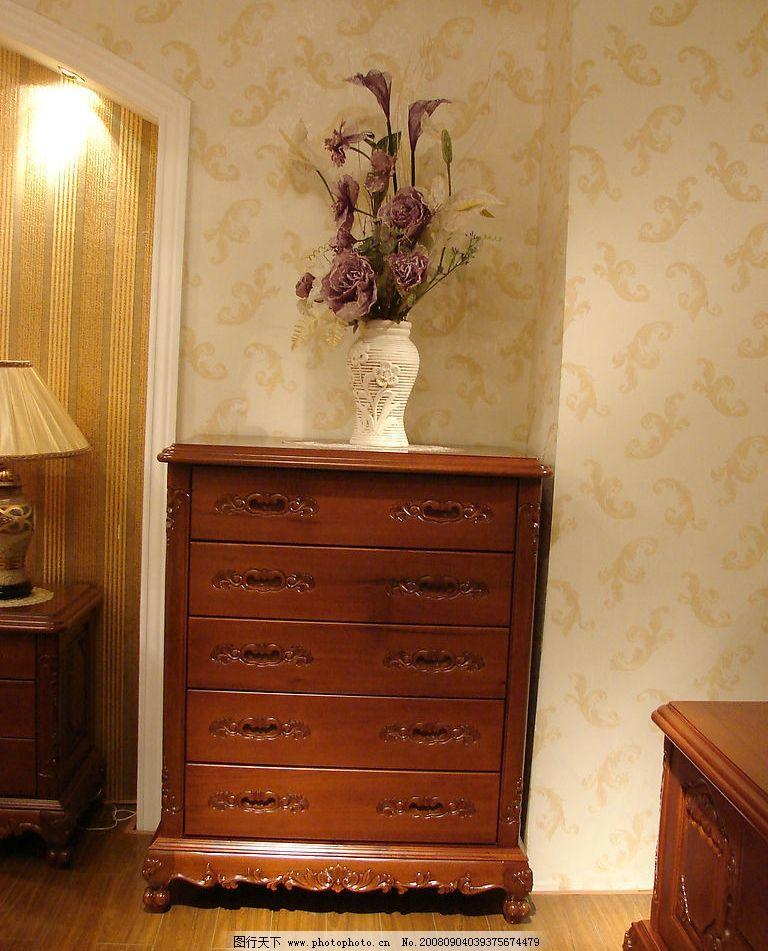 经典欧式家具五斗柜图片