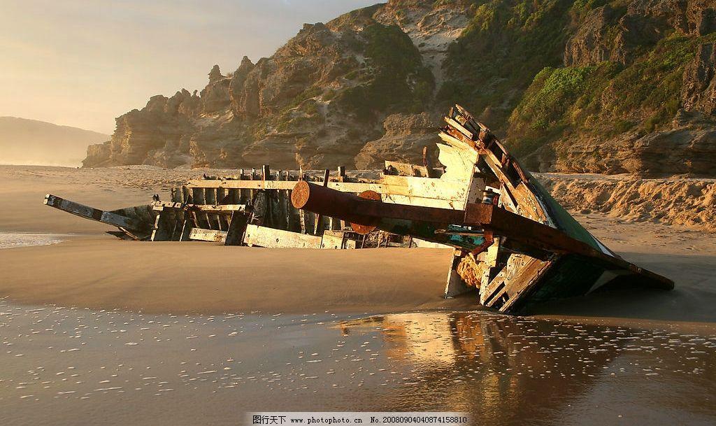 破船 破碎 船 风景 海边 其他 图片素材 摄影图库 300dpi jpg