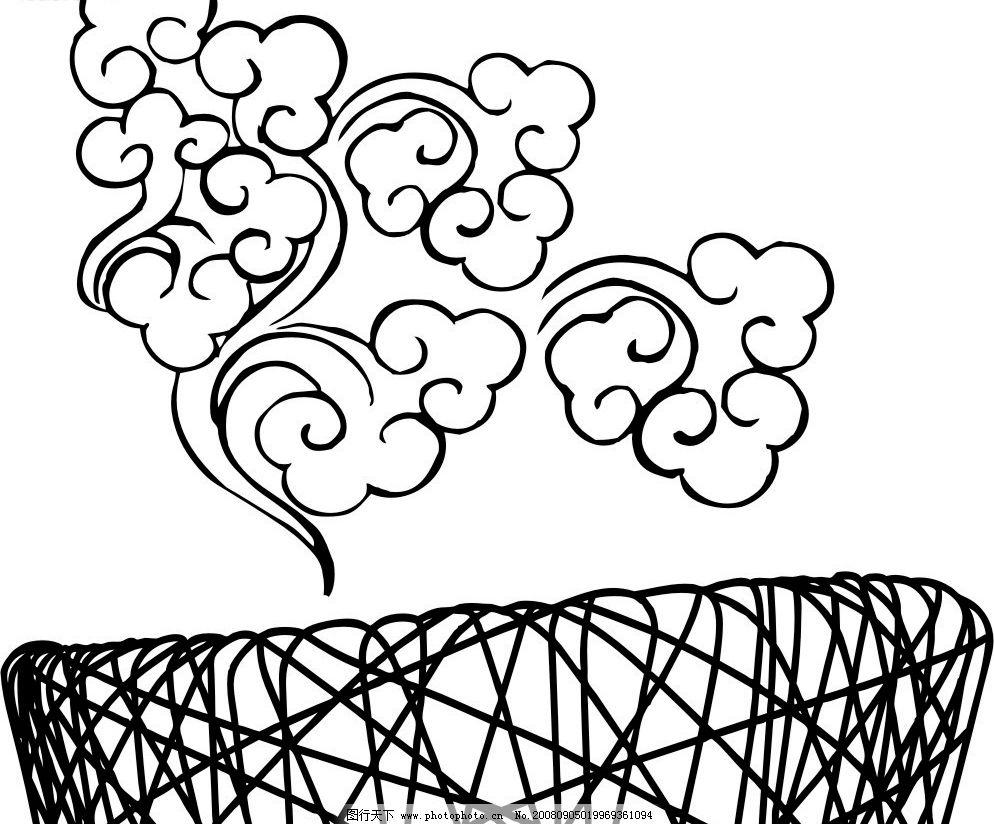 鸟巢 祥云 食量鸟巢 祥云纹 标识标志图标 矢量图库