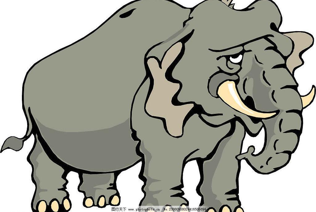 大象图片,动物 生物 矢量图库-图行天下图库