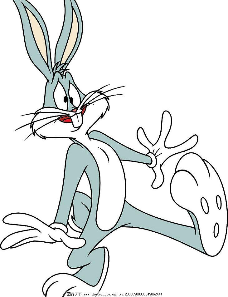 惊讶表情的兔八哥 其他矢量 矢量素材 矢量图库