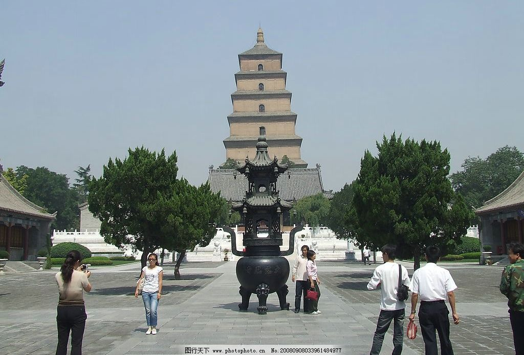 大雁塔 古塔 鼎 钟楼 古建筑 树木 旅游摄影 国内旅游 西安风景