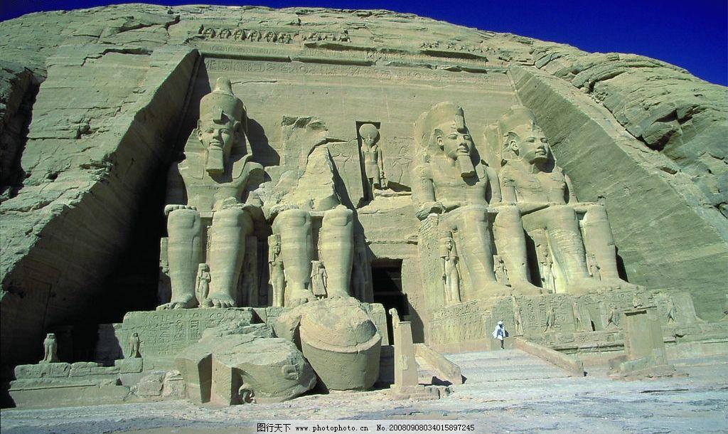 法老雕像 埃及 金字塔 陵墓 沙漠 国外旅游 摄影图库