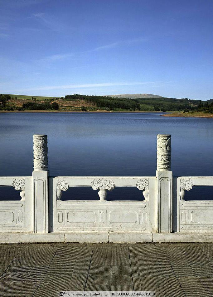 石桥上 山水 石桥 汉白玉桥 自然景观 山水风景 山山水水 摄影图库