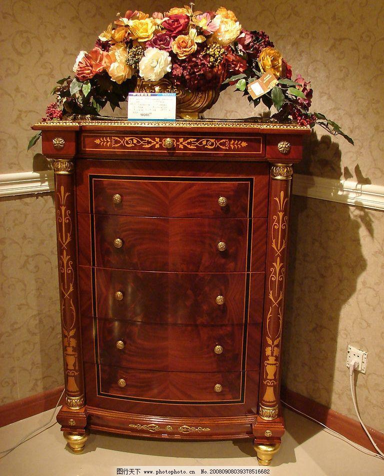 经典欧式家具五斗柜图片图片