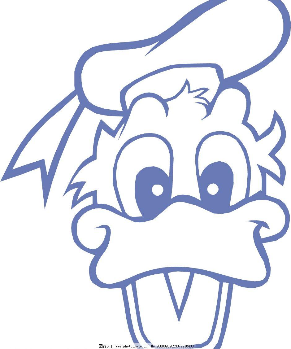 唐老鸭 矢量人物 明星偶像 矢量卡通人物集 矢量图库 cdr