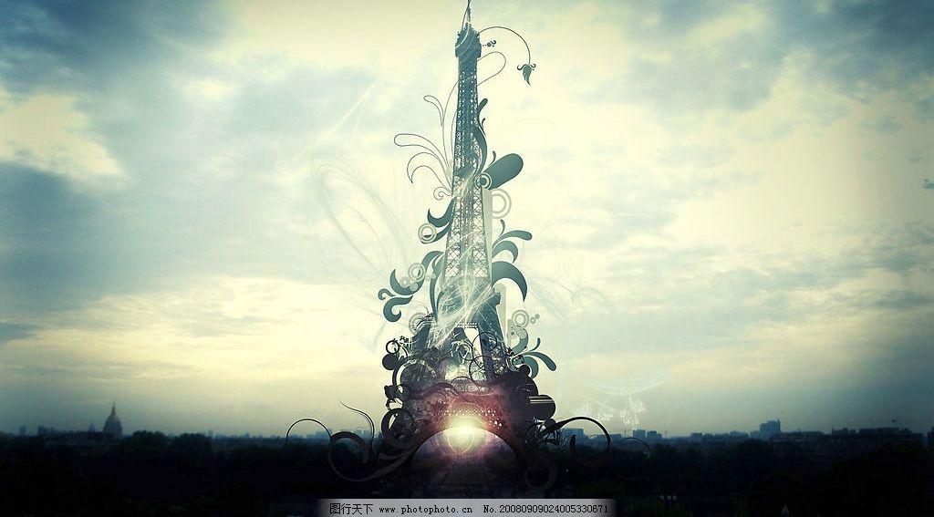ps风景 风景 铁塔 自然景观