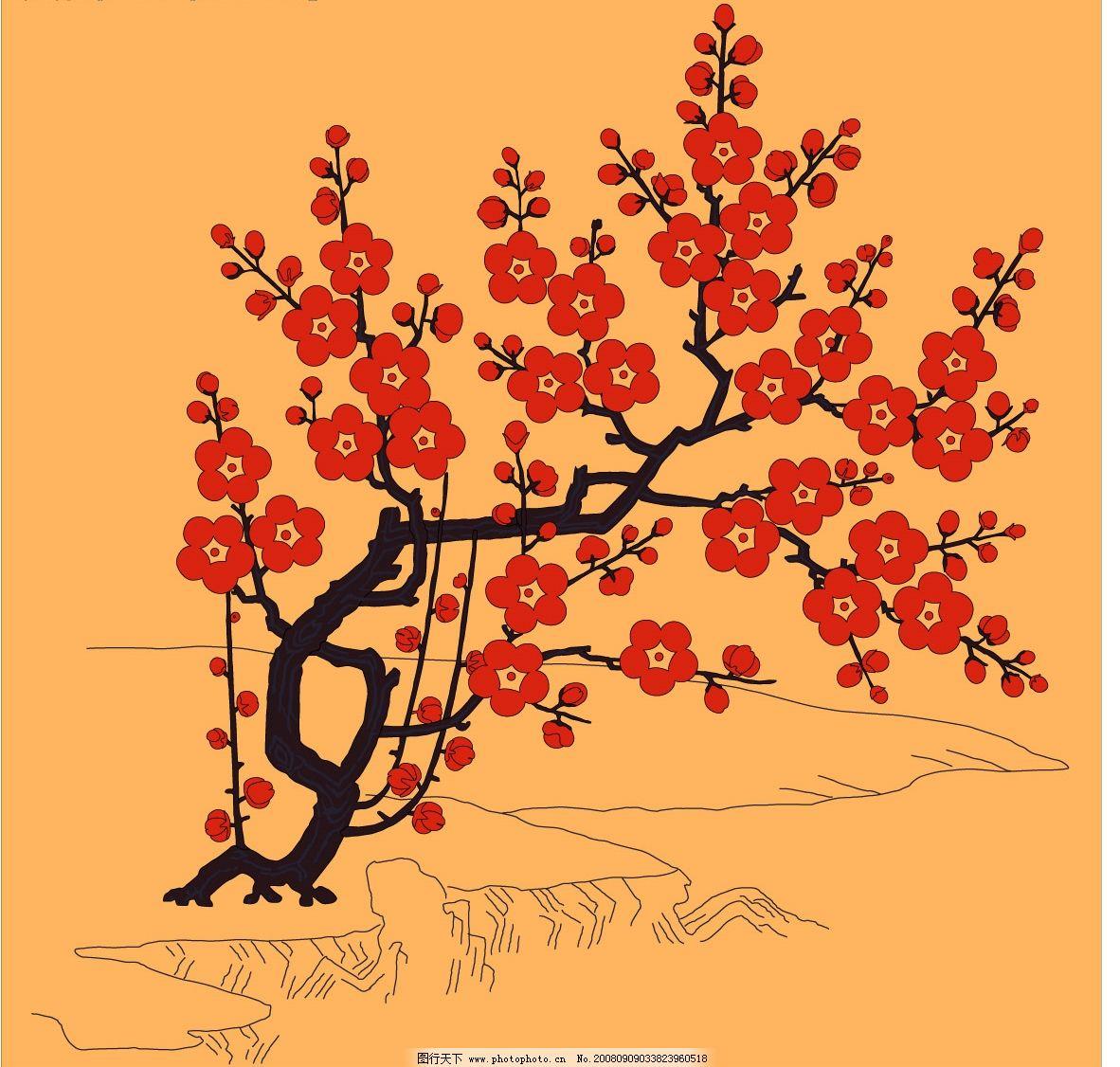 日本花纹图片
