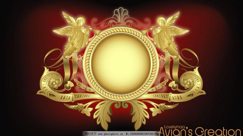 欧式花纹 欧式 天使 西方风格