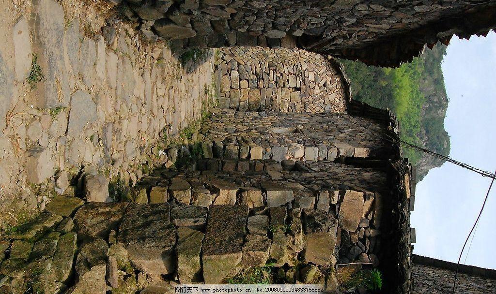 原生态石头房 原生态 石头房 自然景观 自然风景 岩背山脉 摄影图库