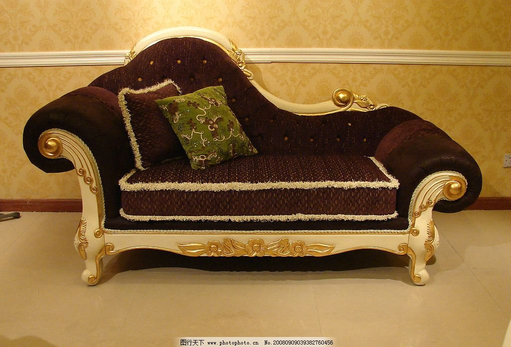 经典欧式家具贵妃椅图片