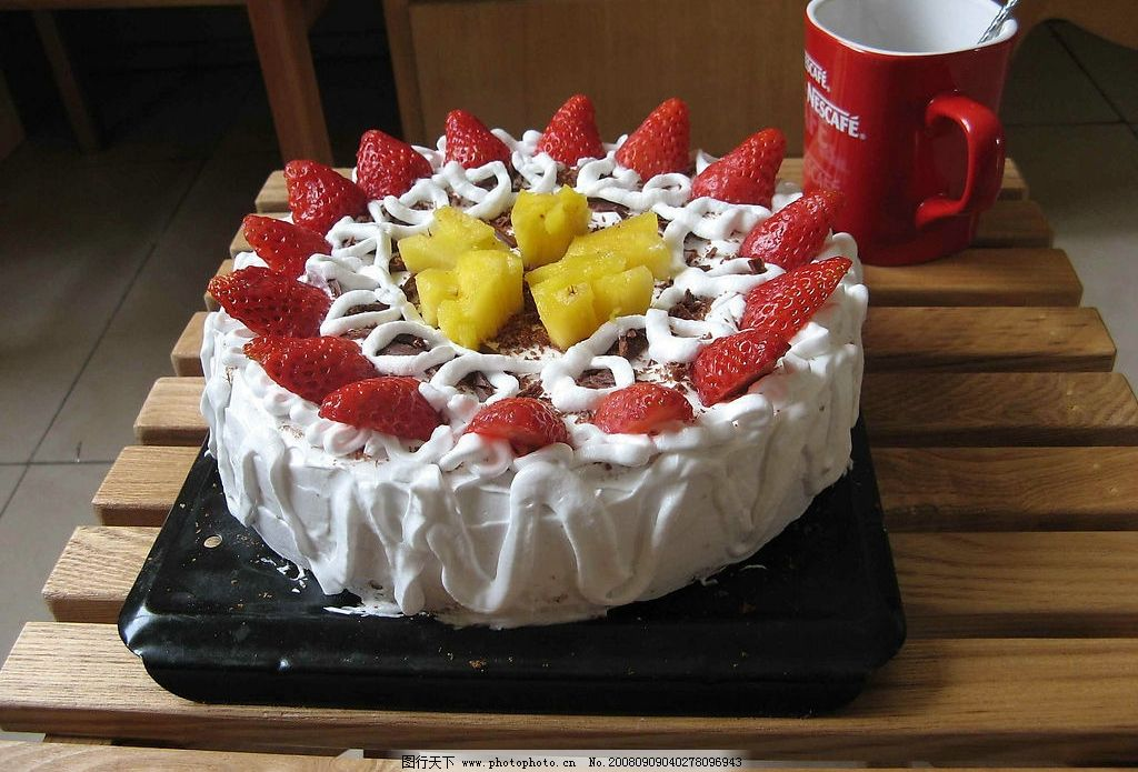 水果蛋糕图片