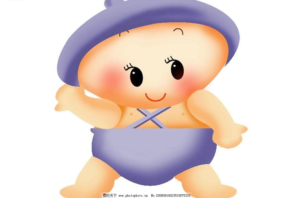 婴姿焕发 可爱宝宝 卡通宝宝 宝宝 卡通小孩 大眼睛宝宝 人物图库