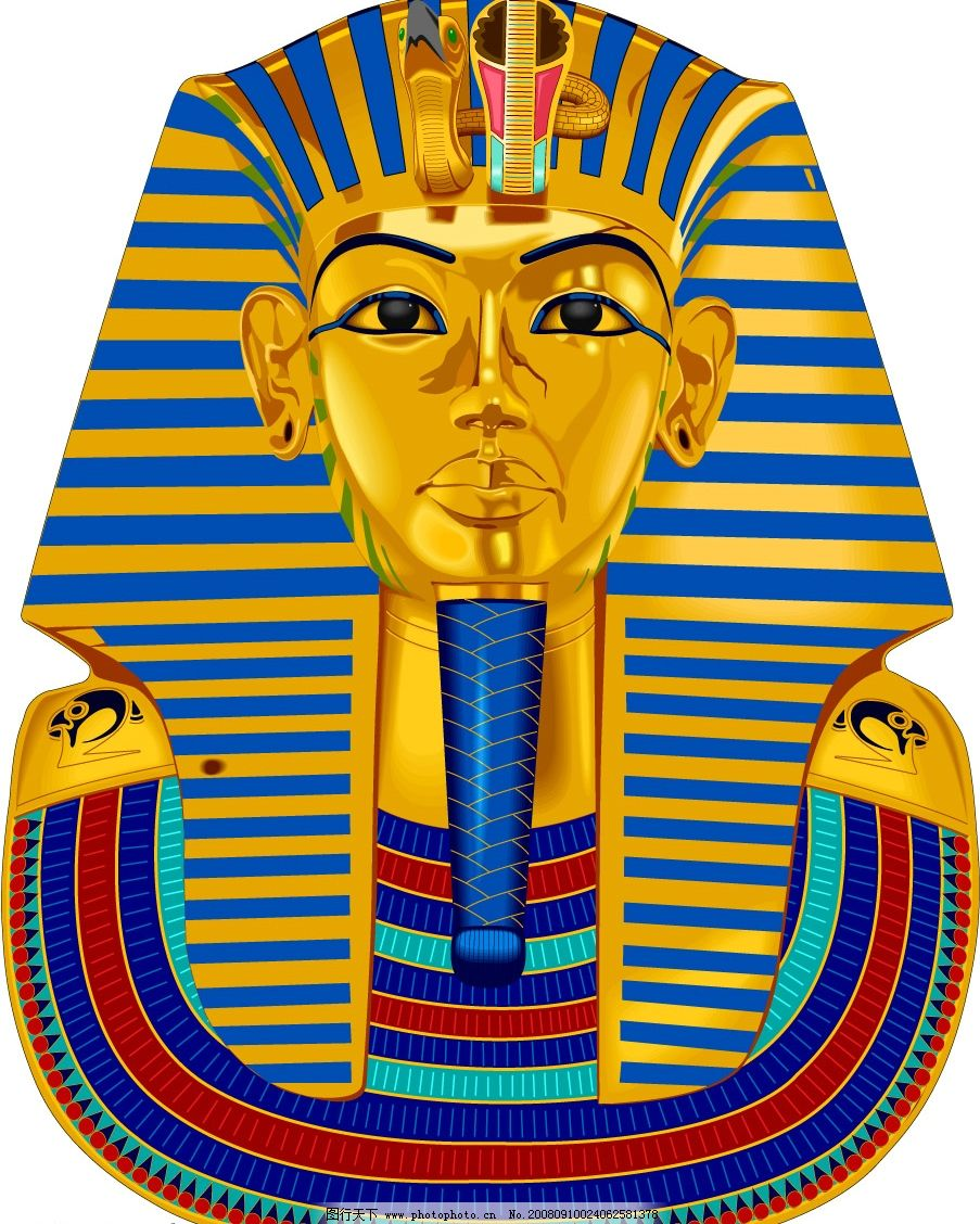 埃及法老 世界名胜古迹 自然景观 风景名胜 矢量图库 cdr