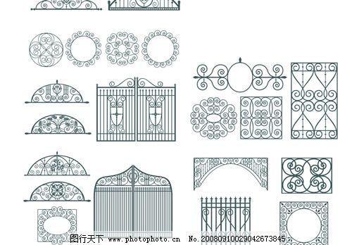 欧式门窗护栏雕花图片