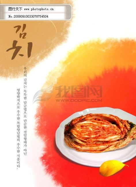 料理 饮食 美食 泡菜 韩国料理 韩国实用设计分层源文件 PSD源文件