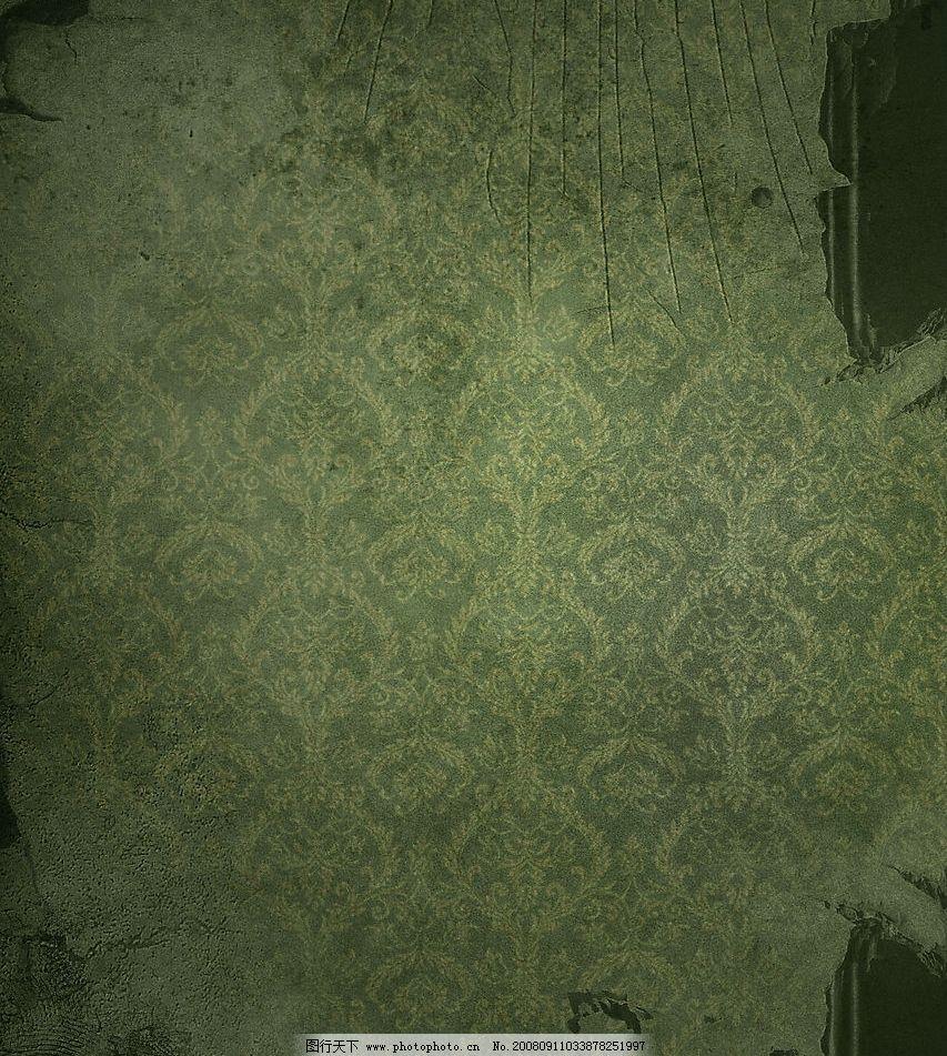 残旧欧式墙纸墙壁图片素材