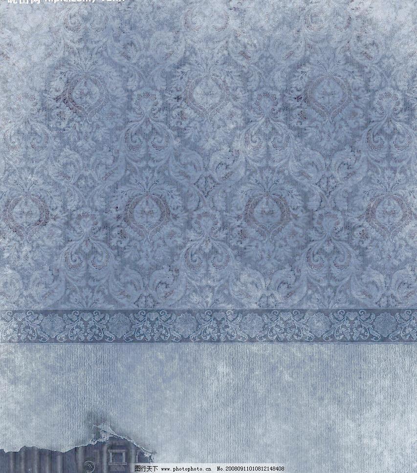 残旧欧式墙纸墙壁素材图片