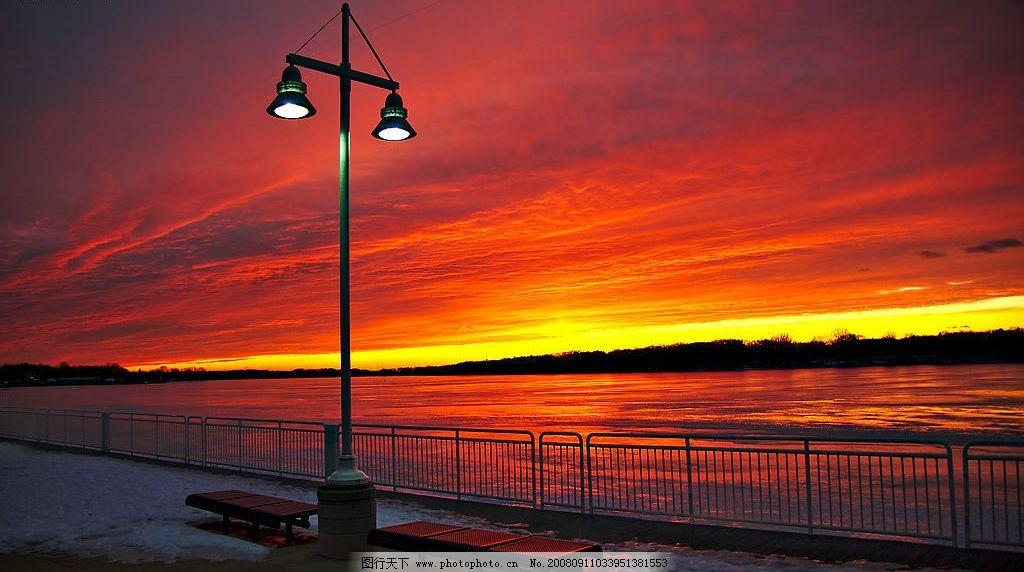 日落黄昏图片,风景 自然风光 大海 晚霞 自然风景-图