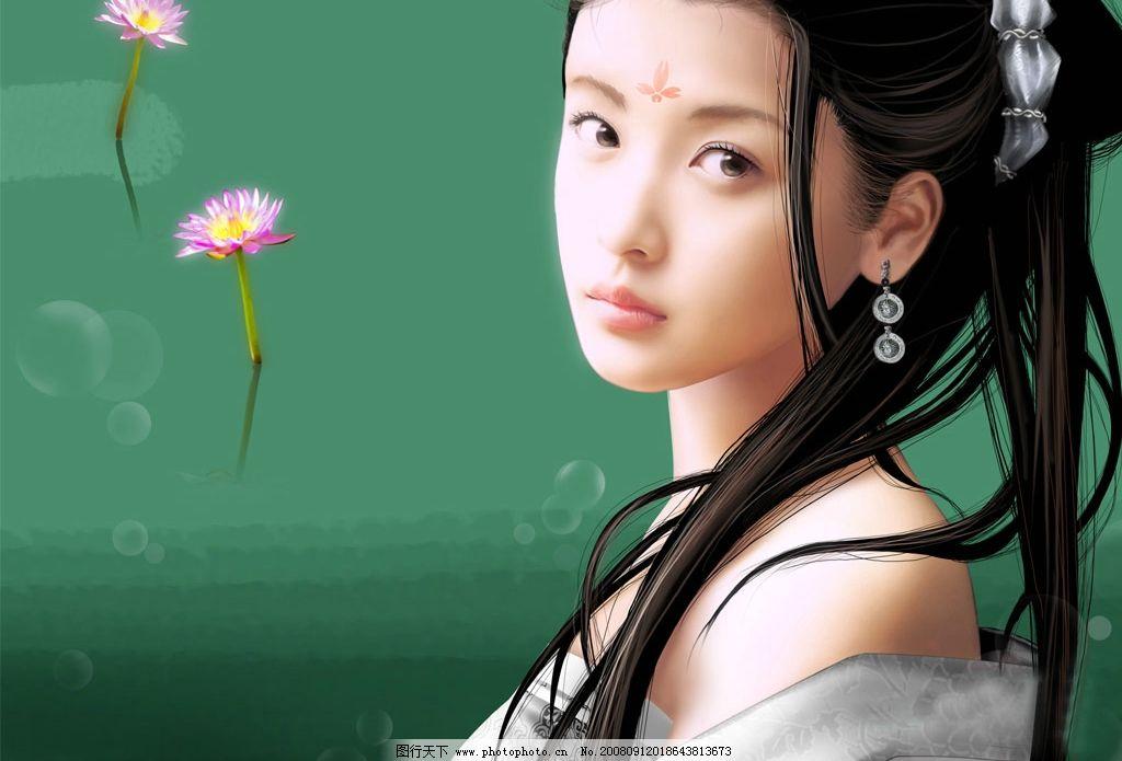 唯美女孩 可爱 美女 美图 意境 古代美女 动漫动画 其他 设计图库 72