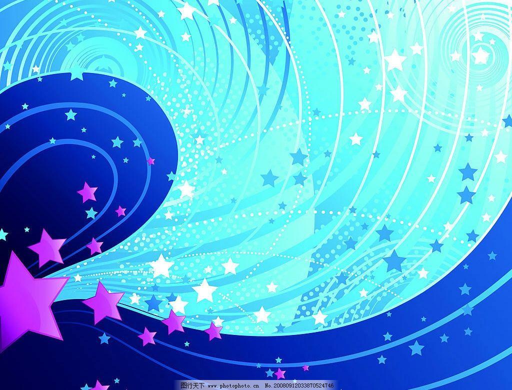 星星花边简笔画
