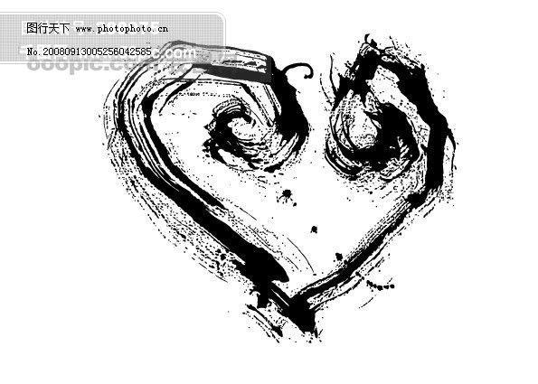 墨迹图片海报素材矢量教学HanMaker花纹版式v墨迹矢量反思图片