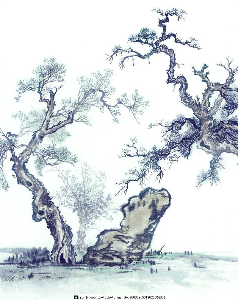 古树奇石0013_绘画书法_文化艺术_图行天下图库