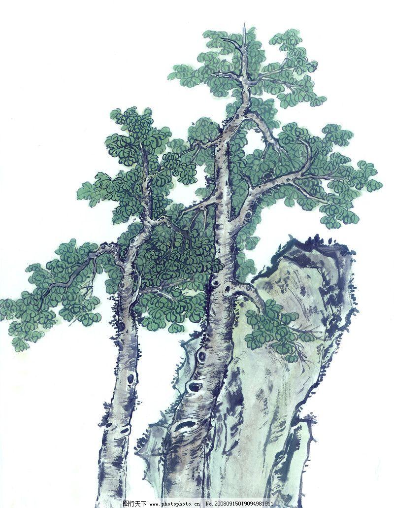 古树奇石0018_绘画书法_文化艺术_图行天下图库