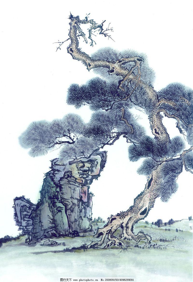 古树奇石0042_绘画书法_文化艺术_图行天下图库