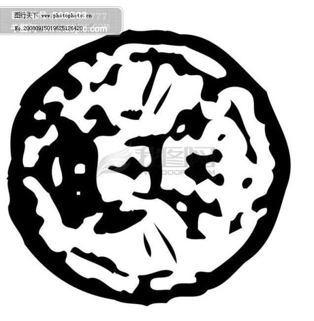全球首席大百科 水墨 黑白 笔刷 图案 图纹 花纹 拓印 圆圈