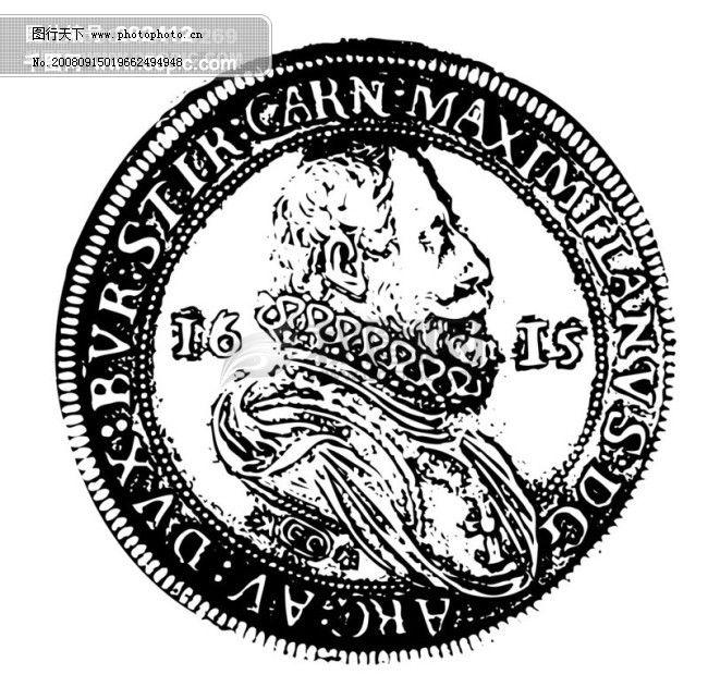 全球首席大百科 水墨 黑白 笔刷 图案 图纹 花纹 拓印 硬币 钱币 古币
