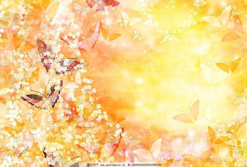 炫彩1 蝴蝶 百花盛开 底纹边框 其他素材 炫彩世界 设计图库 350dpi