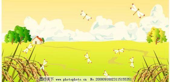 最新韩国秋天风景矢量图41图片